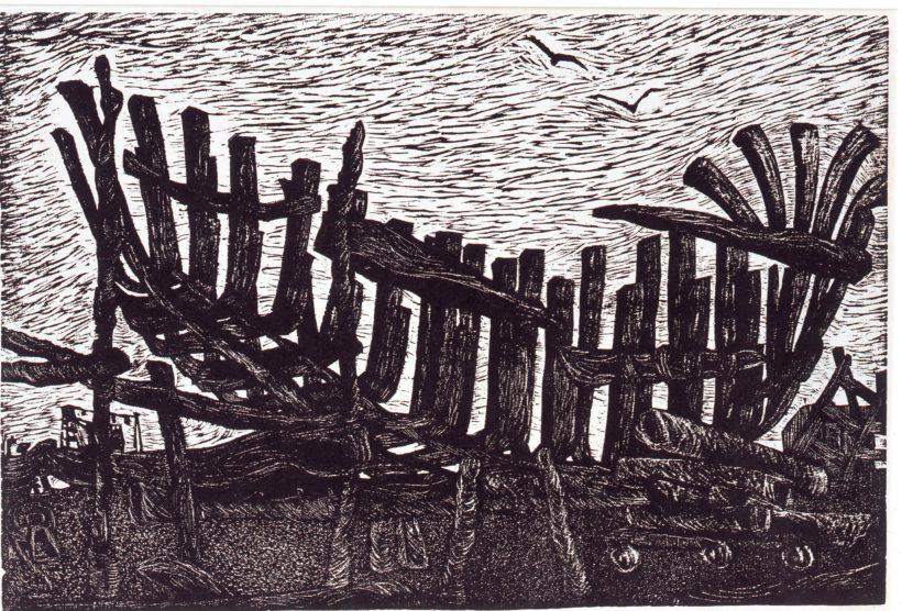 八戸市立江陽中学校生徒制作「竜骨」/1969年 /八戸市新美術館建設推進室所蔵