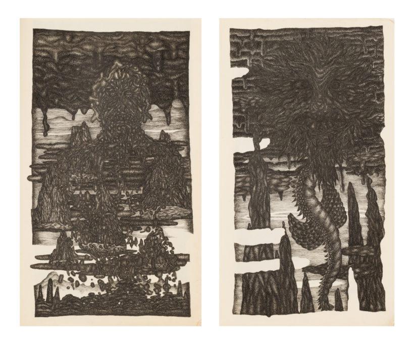 「田亥の思付繪畫」2012~2018年|ノート、水性インク