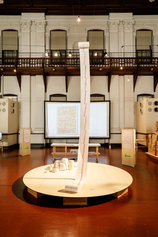 YOSHIDA Kakuya installation view exhibition at the Museum of Kyoto, Annex photo by IRIMAJIRI SAKI